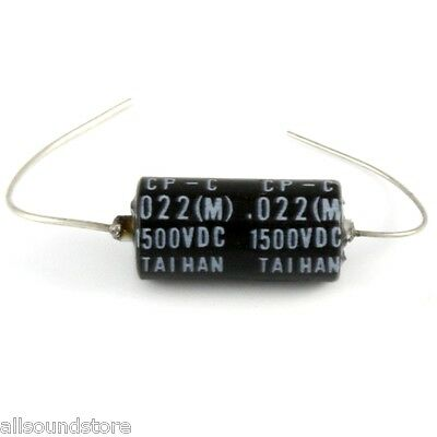 "NEW - Taihan ""Black Bee"" Oil-Paper Tone Capacitor Cap  .022 uF 1500 Volt"