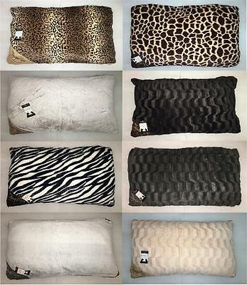 Faux Fur Dog Bed With Zipped Cover Mattress Cushion Pillow Dogs Cats Washable