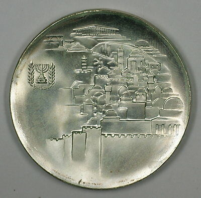 1968 Israel 10 Lirot 20th Anniversary Commem Silver Proof Coin with Case
