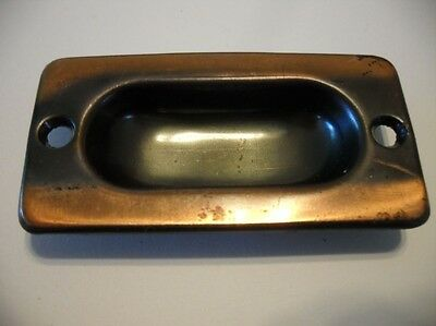 VINTAGE Copper Flash Steel Window Sash Lifts Sliding Pocket / Cabinet Door Pulls