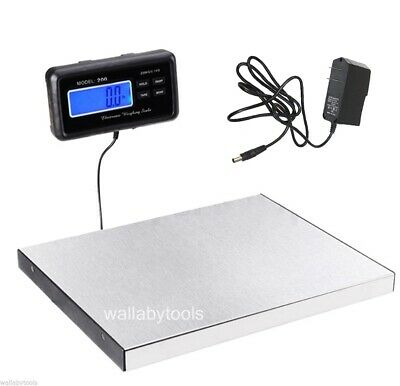 440lbs 200Kg LCD AC Digital Floor Bench Scale Postal Platform Shipping Pet