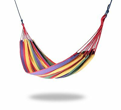 Mixed Color Cotton Canvas  Hammock Air Chair Hanging Swinging Outdoor Camping