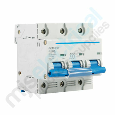 3 Pole Circuit Breaker 10kA MCB 80A / 100AMP You Choose - NEW - SPECIAL PRICE!