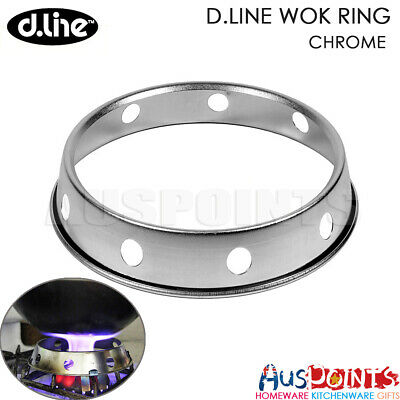 D.LINE Wok Ring - Chrome Plated Steel Stand Rack  RRP $16.99