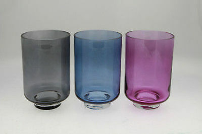 6 x Hurricane  candle lantern 3 Asst cols 25cm tall Bulk Wholesale lot reduced t