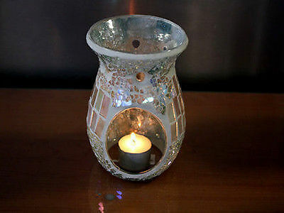 6 x Oil Burner Mosaic Natural14cm tall Bulk Wholesale lot reduced to clear