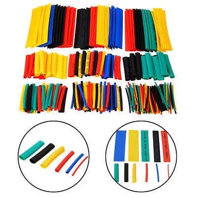 328Pcs Assorted Car Electrical Cable Heat Shrink Tube Tubing Wrap Sleeve New
