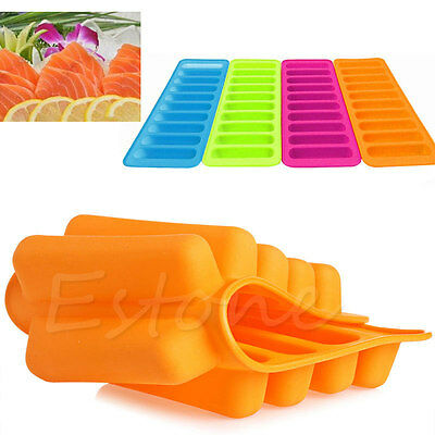 1PC New Silicone Cylinder Ice Cube Tray Freeze Mould Pudding Chocolate Mold