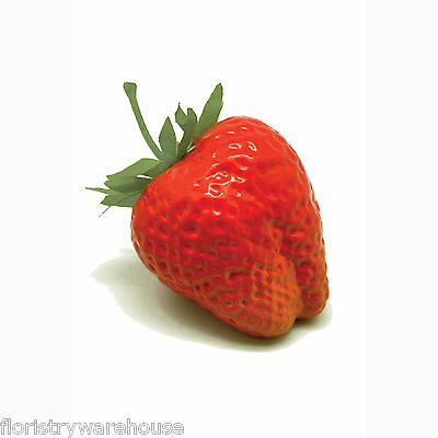 Artificial Strawberry Pack of 12 Large Red Mock Summer Fruits 5cm/2 Inches