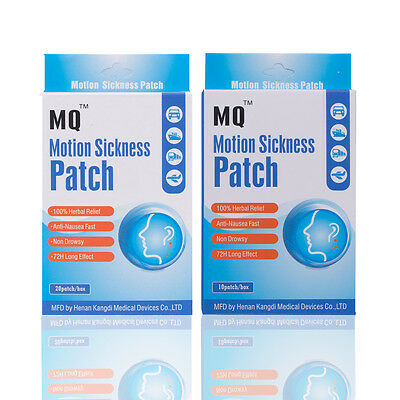 30 Patches/2Boxs Travel Sickness Patch - Scopolamine Patch Anti Motion Sickness