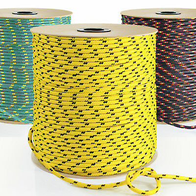 3mm-20mm SYNTHETIC ROPE 1-50m YELLOW/BLACK/GREEN polypropylene cord - boat sail