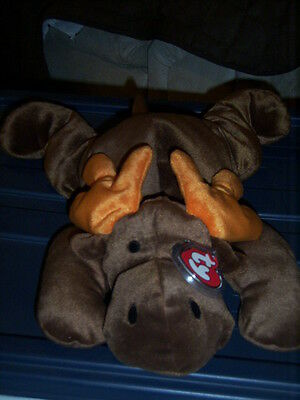 RETIRED TY PILLOW PALS ANTLERS THE MOOSE MINT with TAGS