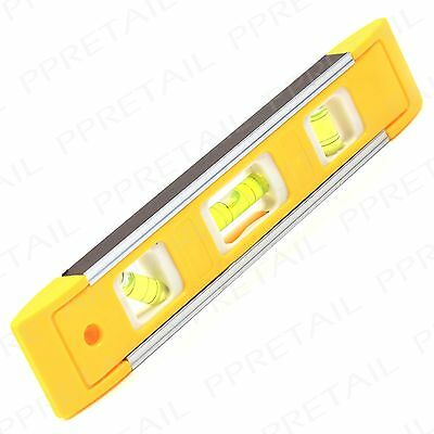 230mm Beam Magnetic Spirit Level 3 TUBES Torpedo Professional Boat Scaffold 9""