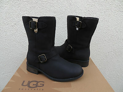 360e1191769 UGG JESSIA BROWN Water-Resistant Leather Sheepskin Boots, Us 7/ Eur ...