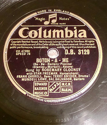 SC050 Schellack COLUMBIA D.B. 3129, Botch-A-Me, Half As Much