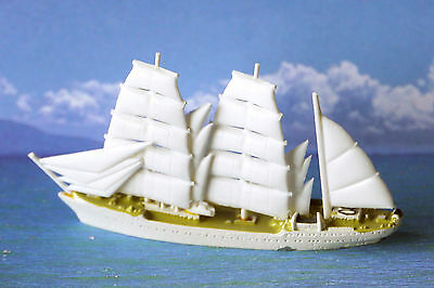 SMS Gorch Fock 89/68 tall ship training vessel model Three-masted barque. Signed