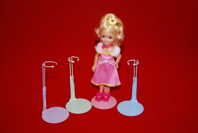 """12- KAISER """"MINI""""  DOLL STANDS - RAINBOW  6-7 inch size #1199"""