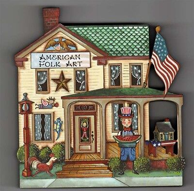 Brandywine Collectible Houses & Shops: AMERICAN FOLK ART Wooden Shelf Sitter
