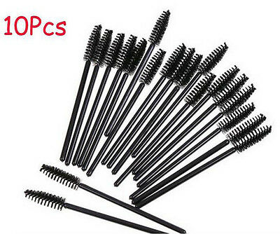 10Pcs Makeup Tool Oblique Design Rotate Eyebrow Brush Cosmetic Brow Brush New F