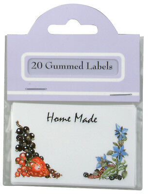 Traditional Gummed Rectangle Home Made Jam Chutney Food Jar Labels Pack of 20