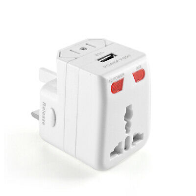 Usb Universal Travel Ac Power Adapter Plug Au/uk/us/eu