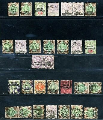 British Bechuanaland Superb Postmark Lot Qv