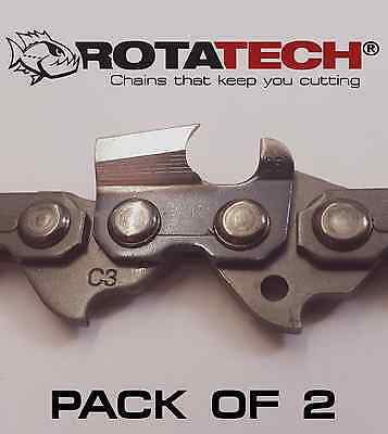 """Genuine Rotatech Chainsaw Saw Chain *pack Of 2 Chains* Fits Stihl Ht-Km 12"""" Bar"""