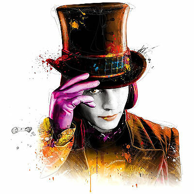 Johnny Depp Colourful Abstract WillyWonka WALL ART CANVAS FRAMED OR POSTER PRINT