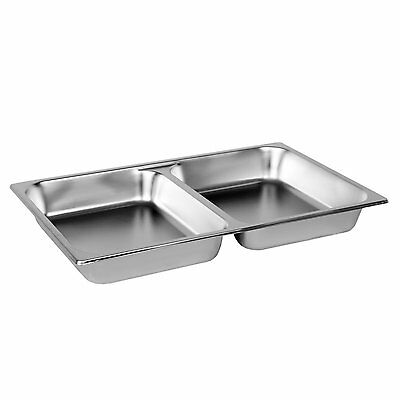 Excellante Full Size 2-1/2-Inch Deep Divided Pans