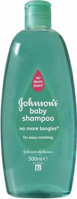 **  JOHNSONS BABY SHAMPOO NO MORE TANGLES NEW ** NO TEARS 500ml EASY COMBING