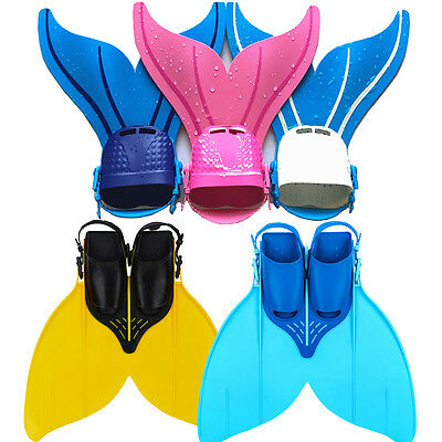 Youth Children Girl Boy Diving Mermaids Tails Monofin Flippers Swimming Costume