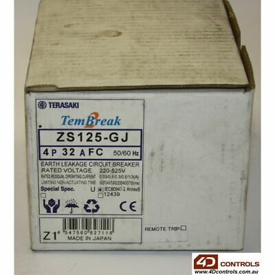 Terasaki ZS125-GJ 4P 32A 4 pole 32A Circuit breaker - New Surplus Open