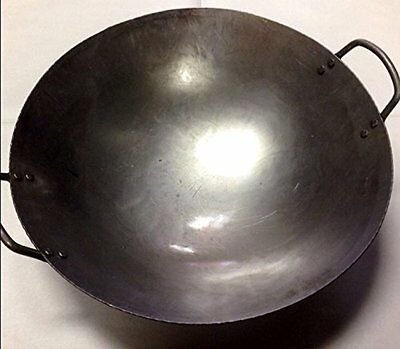 14 inch Carbon Steel Hand Hammered Wok (incl. wok ring)