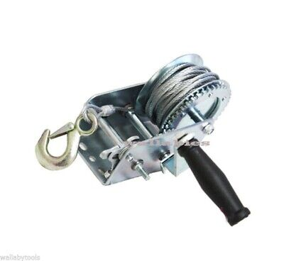 Heavy Duty 3500LB Boat Hand Winch Hand Crank Manual RV Trailer Winch  AUTO MARIN