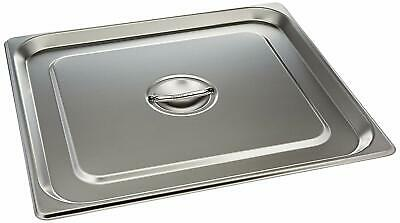Winco SPSCTT Steam Table Pan Cover, 2/3 Size, Solid, Stainless Steel