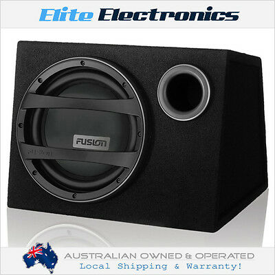 """Fusion En-Ab1122 12"""" 900W Active Powered Built-In Amp Wedge Subwoofer Box Car"""