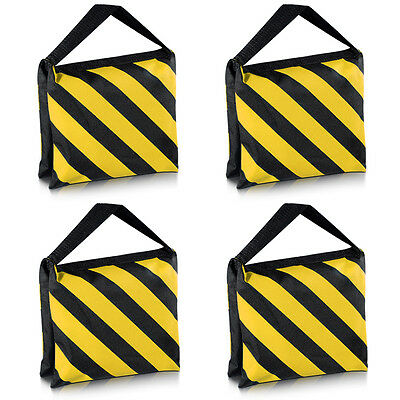 Neewer 4PCS Black/Yellow Heavy Duty Sand Bag for Light Stands Boom Arms Tripods
