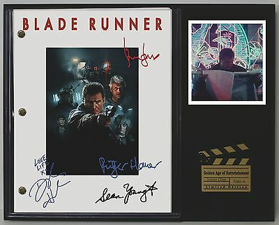 """Blade Runner Limited Edition Reproduction Signed Movie Script Display """"C3"""""""