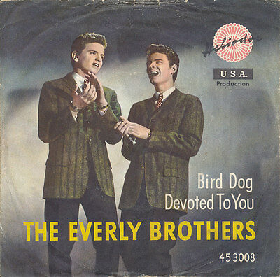 """7"""" - THE EVERLY BROTHERS - BIRD DOG / DEVOTED TO YOU - Heliodor 453008 - DE 1958"""