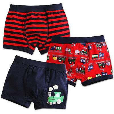 "Vaenait Baby Kids Short Underwear Boys Pantie Set ""Boxer choochoo Train"" 2T-7T"