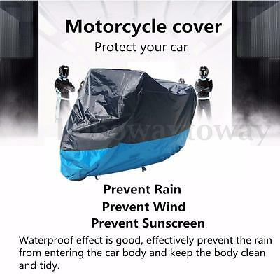 M/L/XL/XXL Waterproof  Motorcycle Cover Outdoor Motorbike Rain Vented Bike Large
