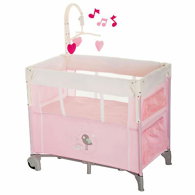 New Hauck Dream N Care Center Bassinette Travel Cot Birdie With Drop Side