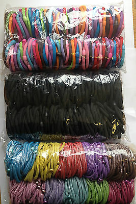 Job Lot Hair Accesories / 100 Thick Hair Elastic Bands * Choose Pack *