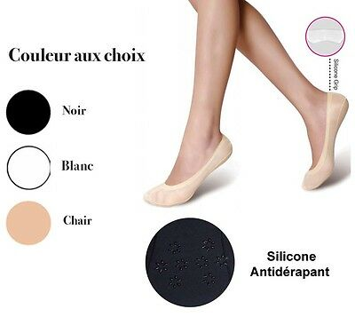 Micro Chaussettes invisible femme Protèges bas mini socquettes fine silicone