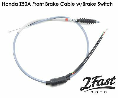 Honda Z50A Gray Front Brake Cable with Brake Switch Replacement 45450-045-672