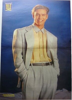 MARK-PAUL GOSSELAAR / JASON PRIESTLEY =  2 pages 1992 FRENCH POSTER clipping