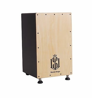 World Stage WS461001 Natural Finish Wood Cajon NEW