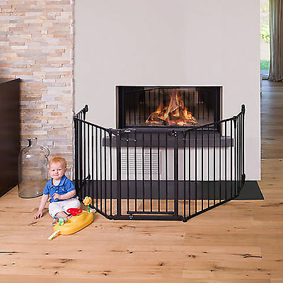 Hauck Fireplace Guard Xl - Charcoal 2.67 Meters 2 Way Opening Safe Lock