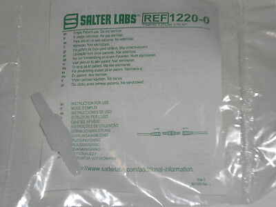1 NEW Salter Labs Swivel Connector 1220-0 For Oxygen Tubing Sealed Disposable
