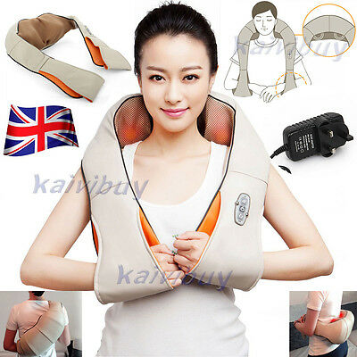 NEW Electric Shiatsu Kneading Neck Shoulder Body Massager With Heat Health Care